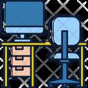 Office Computer Desk Icon