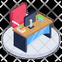 Workplace Workspace Workstation Icon