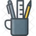 Office Cup Pen Icon