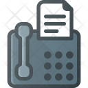Office Phone Fax Icon