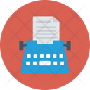 Office Paper Stenographer Icon