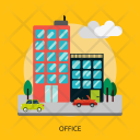 Office Building Construction Icon