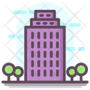 Office Building Real Estate Skyline Icon