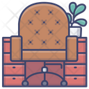 Chair Desk Interior Icon
