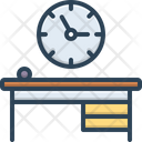 Office Clock Time Is Running Reminder Icon
