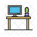 Office Table Working Icon