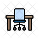Table Chair Desk Icon
