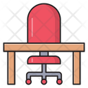 Office Chair Desk Icon
