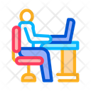 Man Working Office Icon