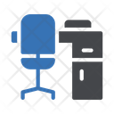 Office Desk Chair Icon
