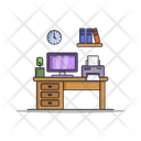 Office Desk Workplace Office Icon