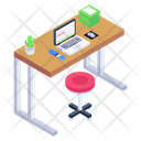 Employee Desk Office Desk Computer Table Icon