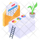 Data Analytics Office Documents Business Files Icon