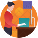 Office Files Business Documentation Official Documents Icon