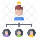 Hierarchy Boss Employee Icon