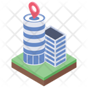 Office Location Company Location Building Location Icon