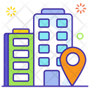 Office Location Workplace Address Office Building Icon
