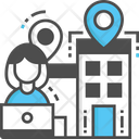 Office Location Location Building Location Icon