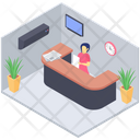 Office Reception Help Desk Front Desk Icon
