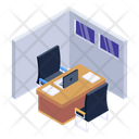 Office Cabin Office Room Workspace Icon
