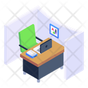 Office Cabin Office Room Workstation Icon