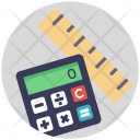 Maths Calculator Ruler Icon