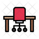 Chair Table Interior Icon