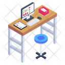 Computer Table Office Table Office Desk Icon