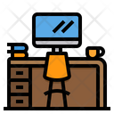 Office Table Working Desk Desk Icon