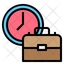 Office Time Briefcase Suitecase Icon