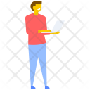 Male Laptop Internet Icon