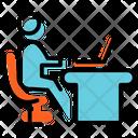 Office Working Plan Presentation Icon
