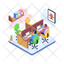 Workplace Office Office Workstation Icon