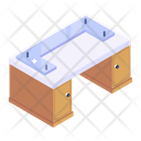 Glass Table Official Table Office Table Icon