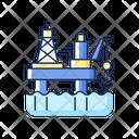 Offshore Oil Platform Icon