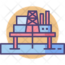 Offshore Platform Oil Drilling Oil Rig Icon