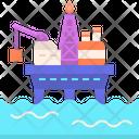 Moffshore Platform Offshore Platform Oil Drilling Icon