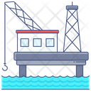 Offshore Oil Rig Offshore Platform Icon