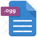 Ogg File Sheet Icon