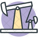 Oil Pumpjack Refinery Icon