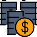 Finance Market Barrel Icon