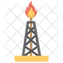 Oil Gusher Oil Well Pumpjack Icon