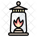 Oil Lamp Illumination Flame Icon