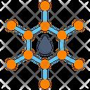 Oil Molecule Molecular Chemical Icon