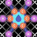 Moil Molecule Oil Molecule Water Molecule Icon