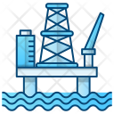 Oil Platform Factory Icon