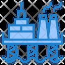 Oil Platform Oil Industry Oil Refinery Icon