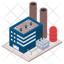 Oil Refinery Industry Mill Commercial Building Icon
