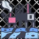 Pollution Ocean Petroleum Icon