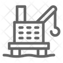Oil Platform Rig Icon
